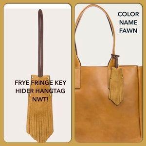 🔥Frye Fringe Key Hider Bag Charm  Key Fawn Fob🎁